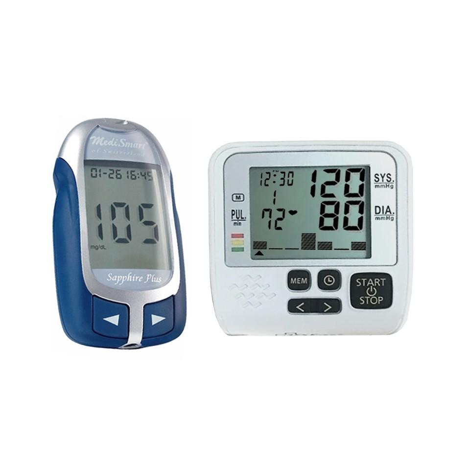 Bộ sản phẩm Máy đo đường huyết và Máy đo huyết áp GIÁ SỐC CHỈ 950.000Đ