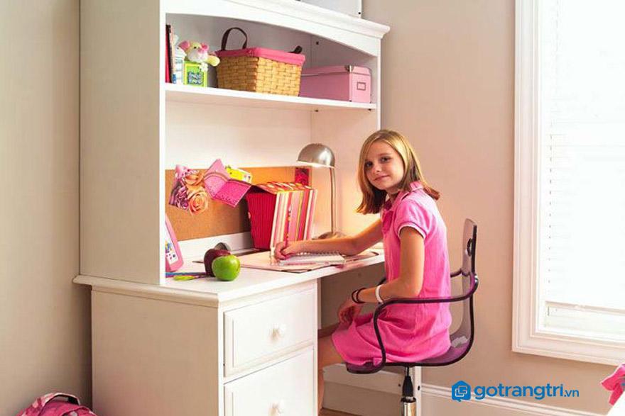 Bàn học cho bé gái có thiết kế thế nào là tốt nhất?