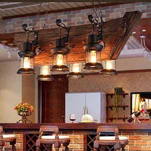 Những mẫu đèn chùm thả trần quán cafe siêu đẹp