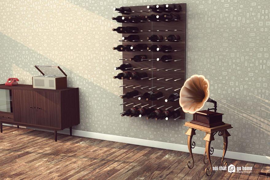 Nét sang trọng của tủ rượu gỗ công nghiệp acrylic