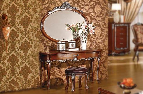 Bàn trang điểm gỗ sồi Oak phong cách cổ điển