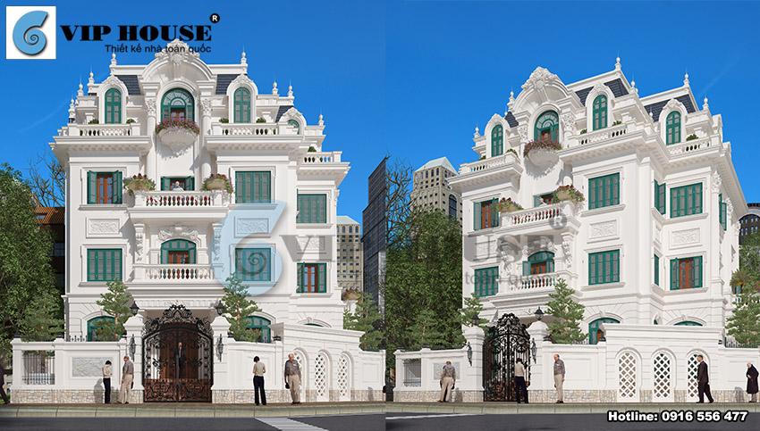 Top 5 mẫu biệt thự kiểu Pháp đẹp không bao giờ lỗi mốt