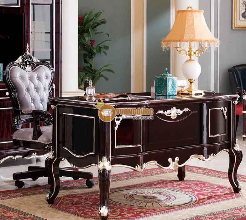 Bộ bàn làm việc giám đốc phong cách cổ điển sang trọng