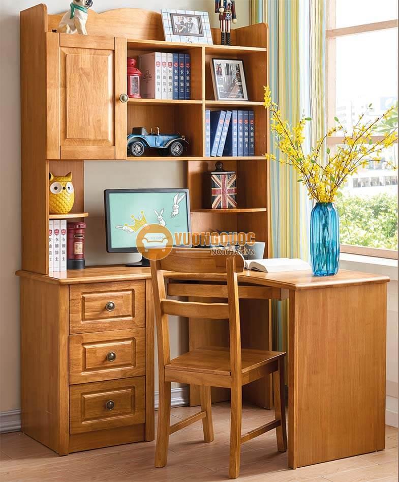 Mẫu bàn học đẹp bằng gỗ bền chắc
