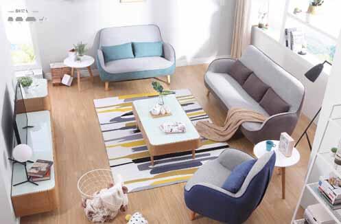 Sofa nỉ đẹp hiện đại phong cách Hàn Quốc