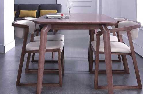 Bàn ghế gỗ nhà hàng phong cách Hàn Quốc