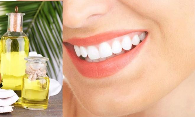 Làm trắng răng, sạch miệng bằng dầu dừa