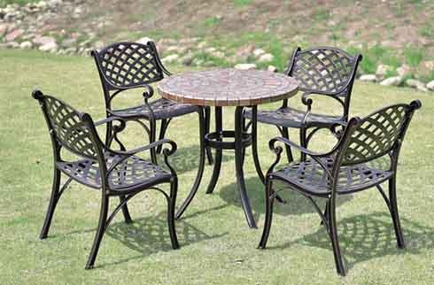 Các mẫu bàn ghế ngoài trời đẹp bằng sắt HOT 2019