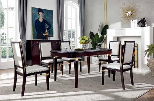 Bộ bàn ăn 6 ghế hiện đại kiểu dáng sang trọng