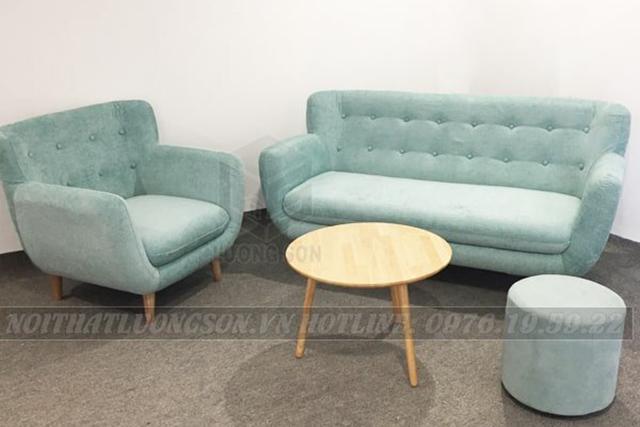 Sofa phòng khách xanh ngọc cho phòng khách thêm vẻ hiện đại