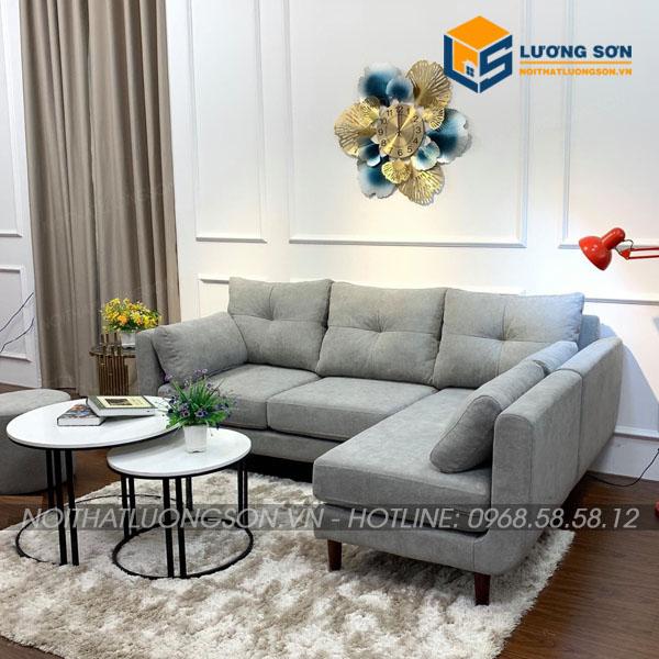 Bộ ghế sofa hiện đại tại Lương Sơn sở hữu kiểu dáng tinh tế, màu sắc hài hòa